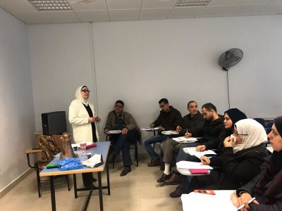 lectures starting for the public health management master programme at An-Najah National University – Palestine
